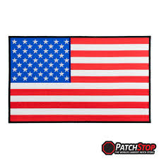 Red White Black Flag American Flag Black Border Patch Classic 100 Fully Embroidered