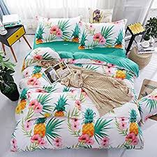 amazon com 4pcs fruit print bedding sheet set one duvet cover