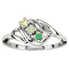 mothers ring with birthstones mothers ring swirl design 1 5 stones in 10k or 14k yellow or white
