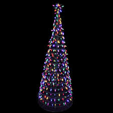 Colored Christmas Lights by Home Accents Holiday 6 Ft Pre Lit Led Tree Sculpture With Star