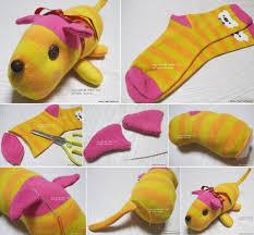 cute stuffed animal made from socks szycie pinterest socks