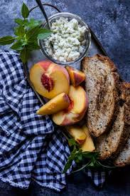 The Peach Tree Barnes Grilled Peach U0026 Whipped Blue Cheese Toast Climbing Grier Mountain