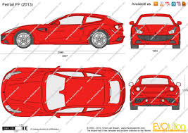 ferrari sketch side view the blueprints com vector drawing ferrari ff