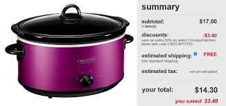 target black friday promo code target 13 40 crock pot 6 qt slow cooker 29 99 value