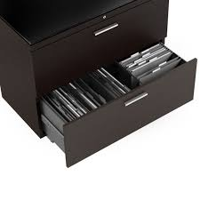 Espresso Lateral File Cabinet Sequel Lateral File Cabinet 6016 Bdi
