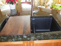 cutting countertop for sink kitchen sinks apron sink with cutting board double bowl rectangular