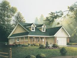 Farmhouse With Wrap Around Porch Plans Pinebluff Ranch Home Plan 004d 0002 House Plans And More