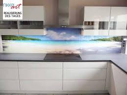 küche rückwand foto küchenrückwand strand