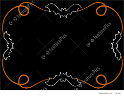 halloween theme background decorative halloween border background stock illustration