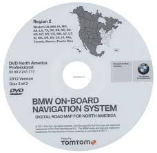 Tomtom Map Updates 2012 Bmw North American Map Dvd Professional Region 2 West Dvd