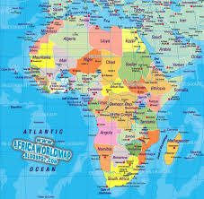 africa continent map continent world map