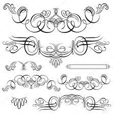 vector swirl ornament set stock vector createfirst 4662505