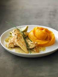 cuisiner patate recette de poulet au citron vert et sa purée de patate douce