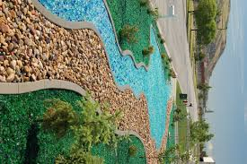 i think this colored glass mulch is so cool garden ideas