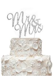 mrs and mrs cake topper rhinestone mr and mrs cake topper david s bridal