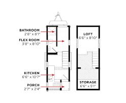 7 X 10 Bathroom Floor Plans by Elm Tumbleweed Houses