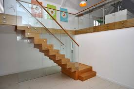 Glass Stairs Design Oak And Glass Floating Staircase Loversiq
