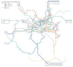 Blue Line Metro Map by Subway Seoul Metro Map South Korea