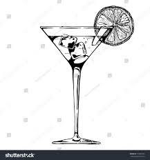 lemon drop martini clip art cocktail glass beverage ice cube slice stock vector 716907262