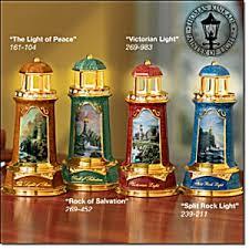 kinkade lighthouse figurines set of 4 kinkade