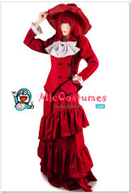 Black Butler Halloween Costumes Kuroshitsuji Black Butler Madame Red Cosplay Wig Sales