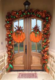 Halloween Door Wreaths Fall Deco Mesh Garland Crafts Pinterest Deco Mesh Garland