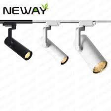 pro track lighting manufacturer 12w 20w 30w led track light head white spotlight track light fixture