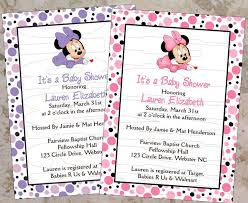 cool customized minnie mouse baby shower invitations 63 with