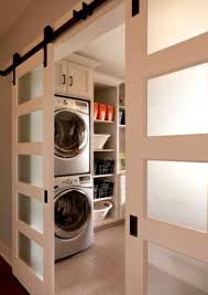 laundry room with modern barn doors homedecort