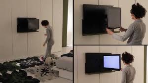 Ikea Armadi Con Ante Scorrevoli by Armadio Dream Con Porta Tv Ghost Estraibile Ed Orientabile Letto