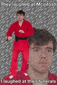 Karate Meme - white knight karate kyle funerals gamergate know your meme