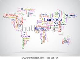 vector design concept international thank you stock vector