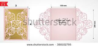 wedding card for laser cut wedding invitation card template stock vector 388102795