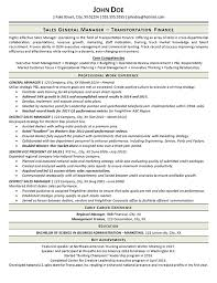 Marketing Achievements Resume Examples by Transportation Resume Example General Manager Trucking
