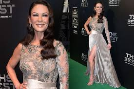 catherine zeta jones catherine zeta jones is breathtaking in sexy thigh split gown at the