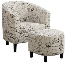 Patterned Accent Chair White Fabric Accent Chair Steal A Sofa Furniture Outlet Los