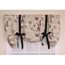 Black Curtains With Valance Tie Up Valances U0026 Kitchen Curtains You U0027ll Love Wayfair