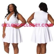 plus size white deep v skater dress 1x 2x 3x from aclassycloset u0027s