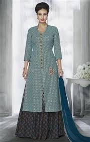latest blue designer dresses online india