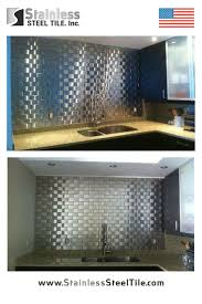 Stainless Steel Tiles For Kitchen Backsplash Kitchen Metal Tile Backsplash Kitchen Ideas For Stainless Steel