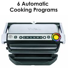 buy 4 servings t fal gc702 optigrill stainless steel indoor