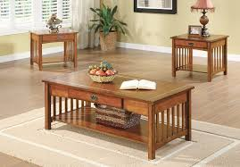 oak coffee table set home design