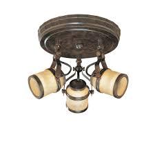 hampton 3 light oxide ceiling semi flush mount fixture