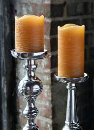 Flameless Candle Sconces With Timer Candle Impressions Rustic 6 Inch Honey Flameless Candle