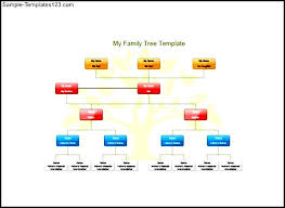 my family tree template for kids free pdf format sample templates