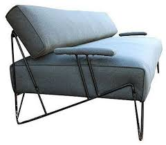 mid century modern iron sofa or daybed modern sofas by chairish
