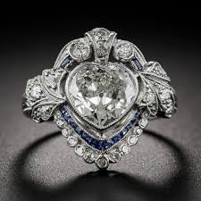 Heart Shaped Wedding Rings by Engagement Rings A Backward Glance Aju