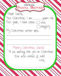 printable santa letters to santa santa letter template crna cover letter