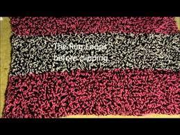 crochet shag rug tutorial youtube