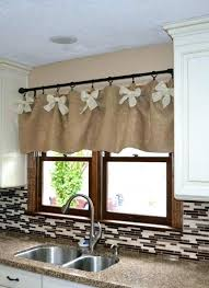 window ideas for kitchen window valances ideas valance ideas photo 2 of 9 burlap valance